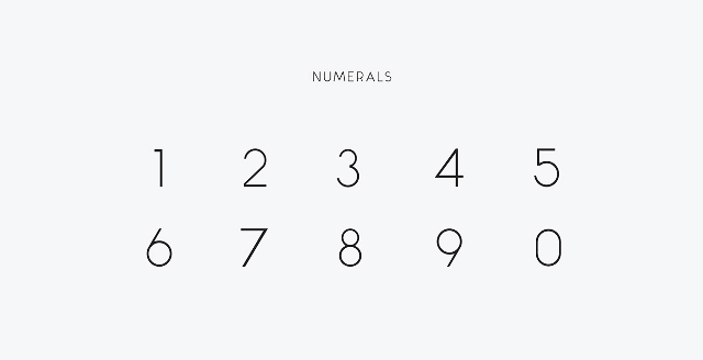 Alcubierre free font numbers