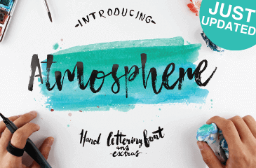 Atmosphere - natural free font