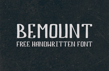 Bemount handwriting font