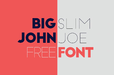 Big John & Slim Joe free font