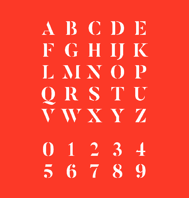 Butler free font uppercase numbers 1