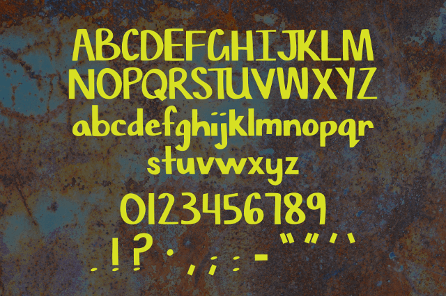 Chisel Mark Free Font letters numbers symbols
