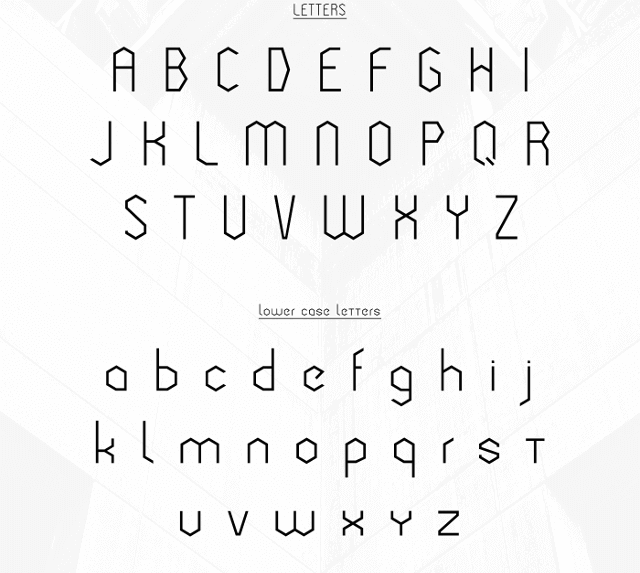 Cornera free font uppercase lowercase