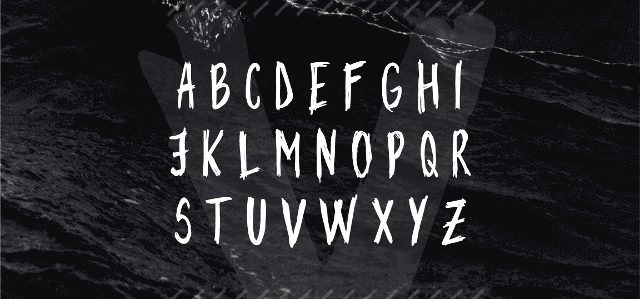 DEEPO free font uppercase