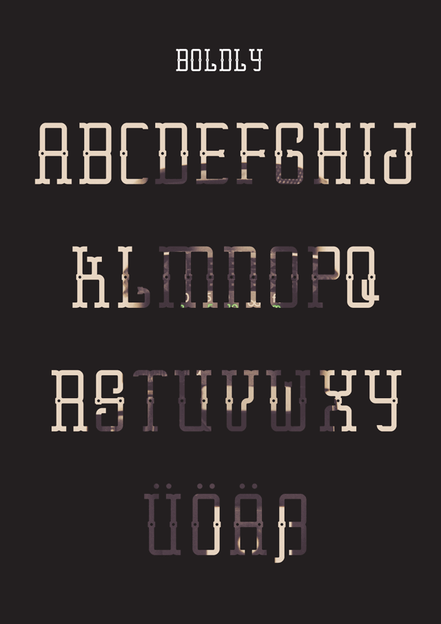 Erster Caps font preview