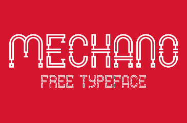 MECHANO geometric font