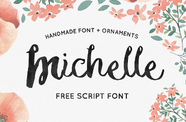 Michelle handmade font