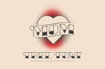 MOM old school tattoo font