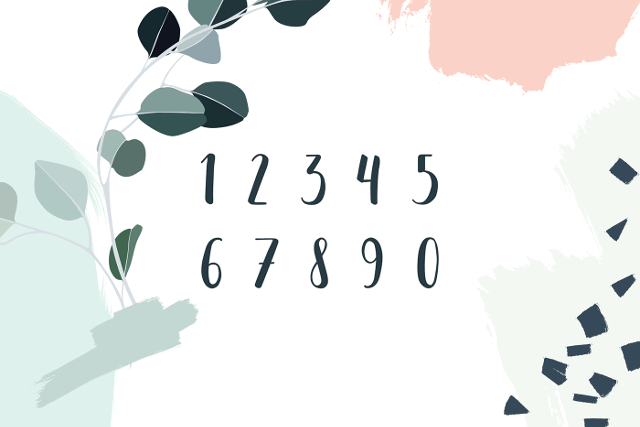 Mona free font numbers