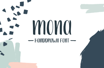 Mona handwriting free font