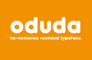 Oduda rounded font