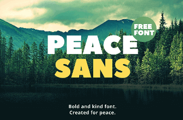 Peace Sans font made with love!