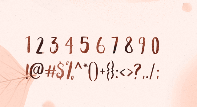 Peomy free font numbers symbols