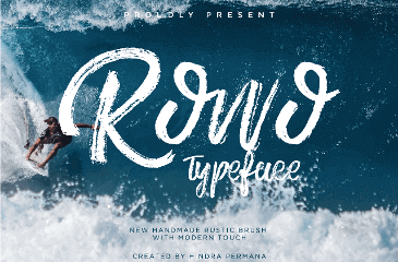exclusive freebie ROWO Typeface