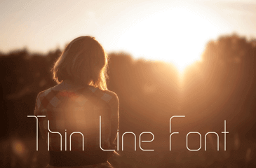 Thin line - delicate type