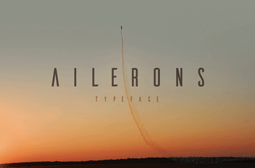 Ailerons font inspired by aircraft
