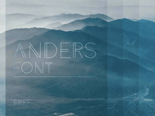 Anders free font by Mr. Alex White