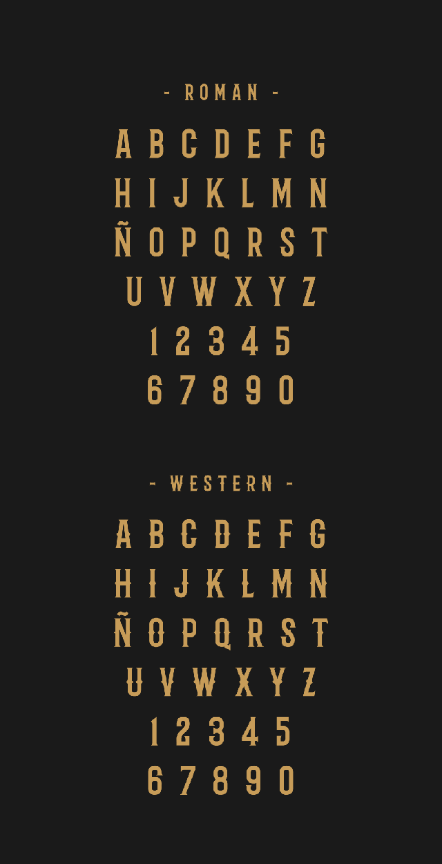 barbaro free font letters