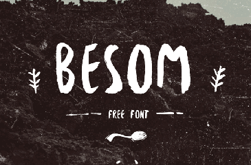 Beson free hand drawn font