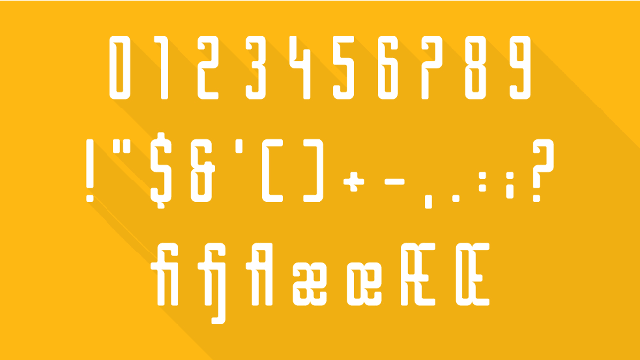 borg free font numbers