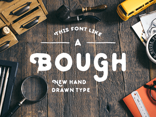 Bough free font by Pavel Korzhenko
