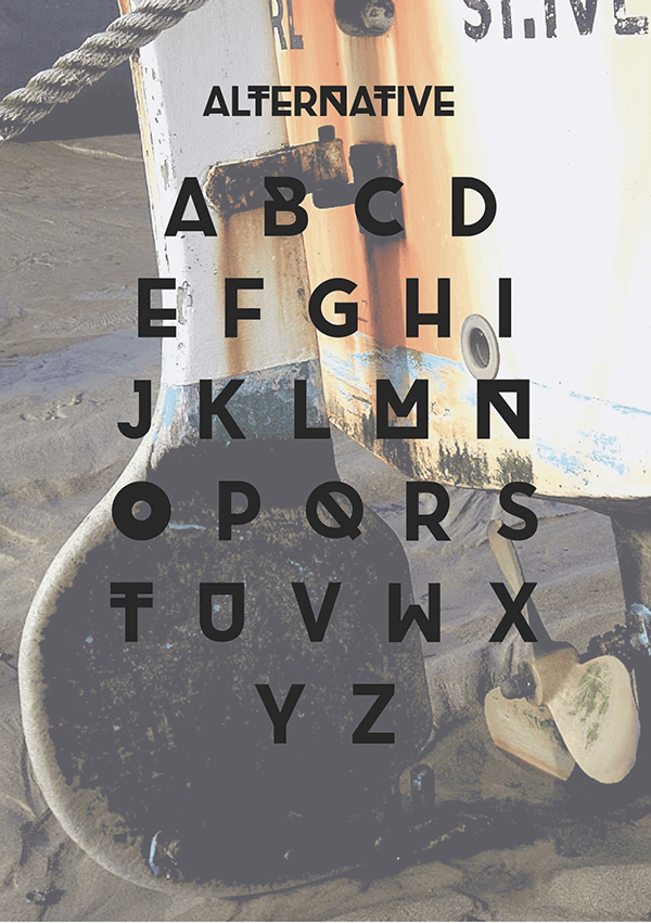 brig free font uppercase alternative