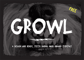 Growl is a free hand-drawn font