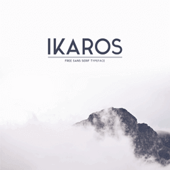 Ikaros font featured by minimal look.