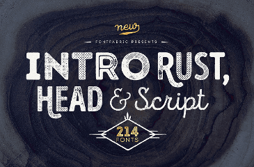 Intro rust, head & scrit free fonts
