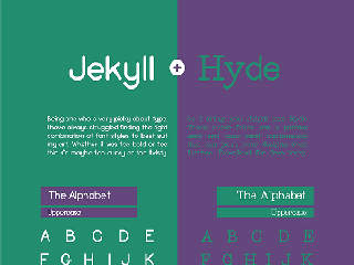 Jekyll and Hide free font by Ryan Barry