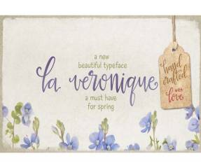 La Veronique font for wedding invitations
