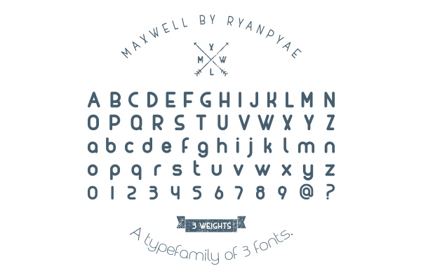 maxwell free font uppercase lowercase numbers