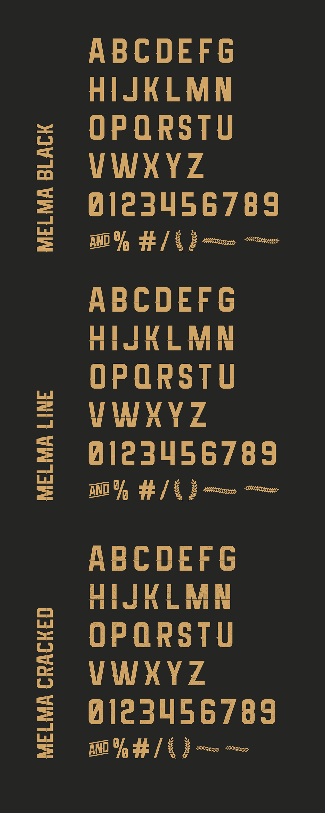 melma free font uppercase numbers