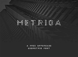 Metrica free font by Oliver James.