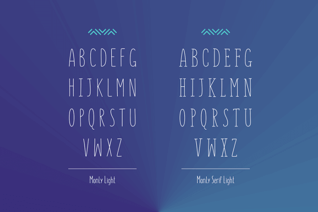 monly free font image 2