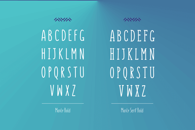 monly free font image 3
