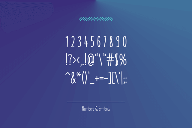 monly free font numbers symbols
