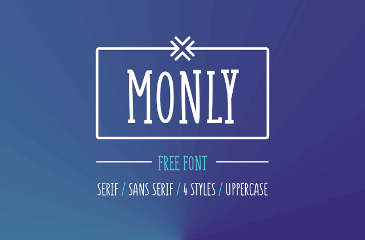 Monly is playful typeface