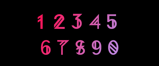 nordic free font numbers