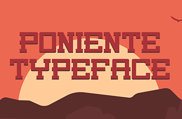 Poniente font - Old West style