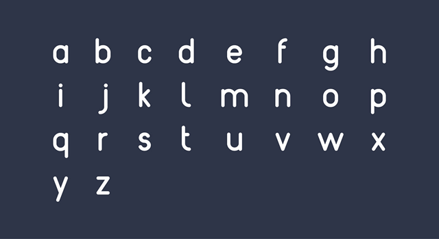 reef free font lowercase