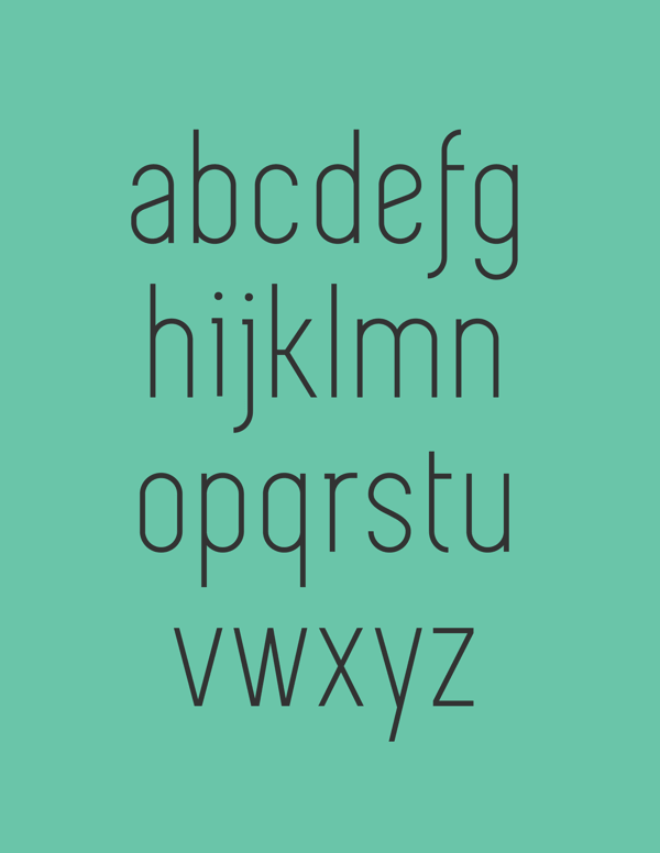 simplifica free font lowecase