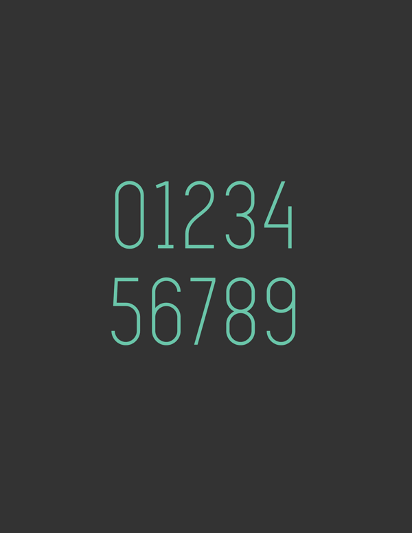 simplifica free font numbers