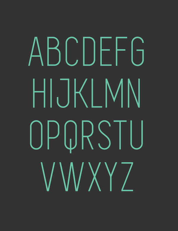 simplifica free font uppercase