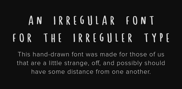 Spastic is an hand-drawn free font providing uppercase characters