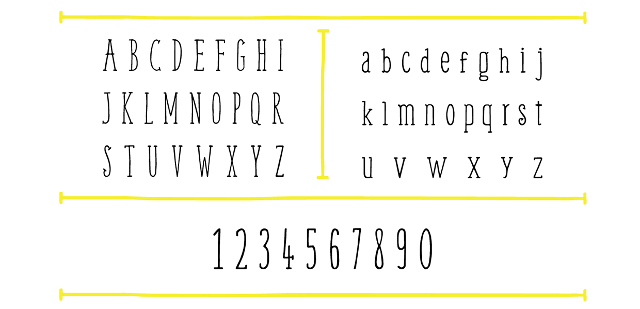 weem free font uppercase lowercase numbers