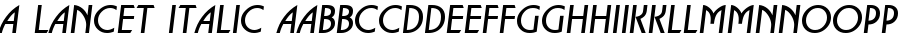 A Lancet Italic polices