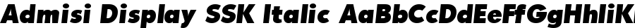 Admisi Display SSK Italic polices