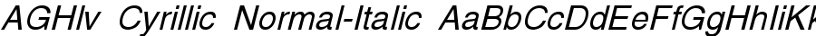 AGHlv Cyrillic Normal-Italic polices