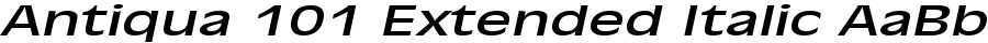 Antiqua 101 Extended Italic polices
